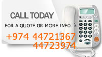 Call Today - For a Quote or More Info - +974 44721367 / 44723974